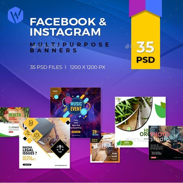 35-Facebook & Instagram Banners