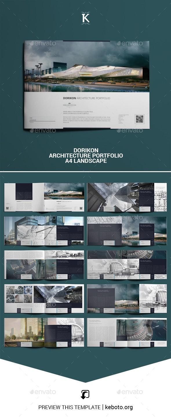 Dorikon Architecture Portfolio A4 Landscape - Portfolio Brochures