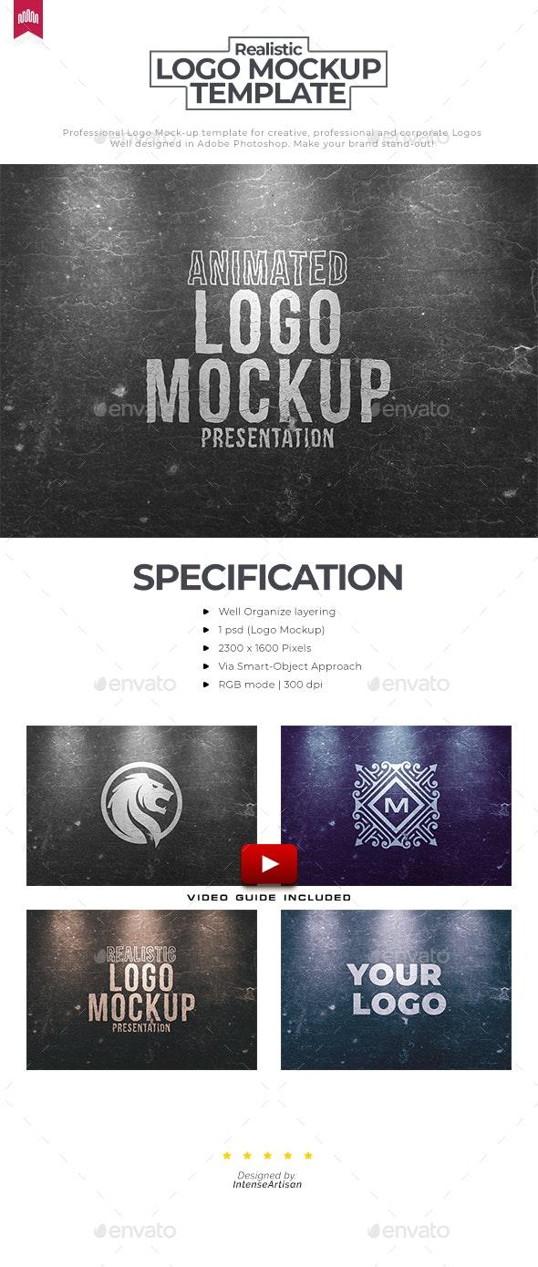 Wood Paint - Animated Logo Mockup - Logo Product Mock-Ups