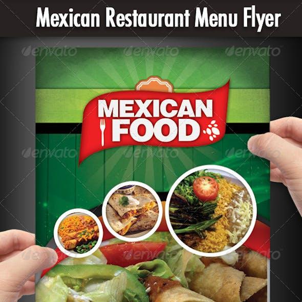 Mexican Restaurant Menu Flyer