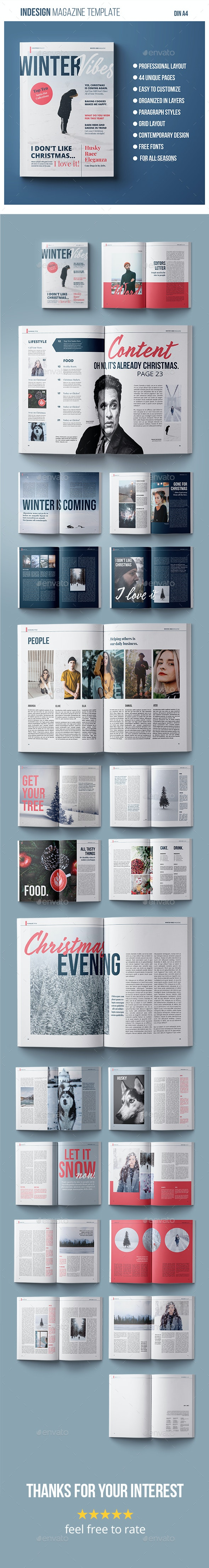 Magazine Template | Winter Vibes - Magazines Print Templates