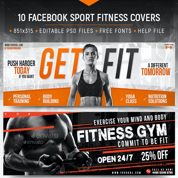Sport Fitness Facebook Covers