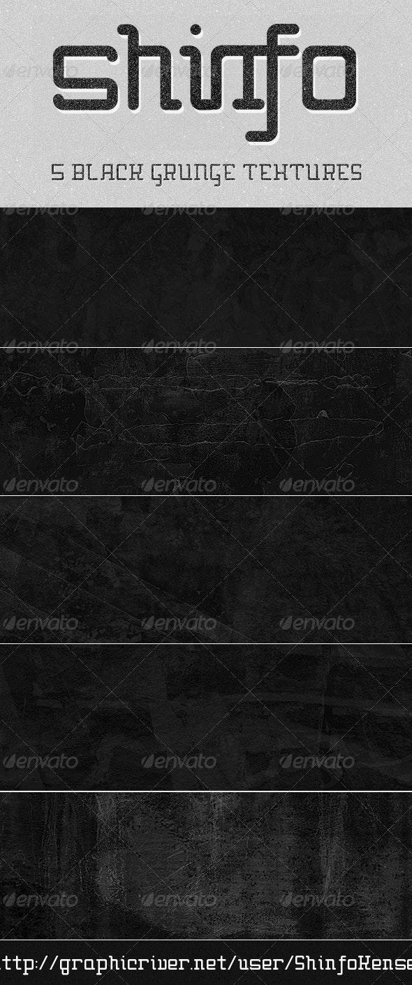 Black Grunge Texture 5 Pack - Industrial / Grunge Textures
