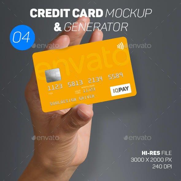 Bank / Credit Card Mockup 04