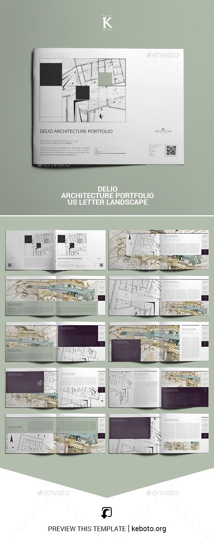 Delio Architecture Portfolio US Letter Landscape - Portfolio Brochures