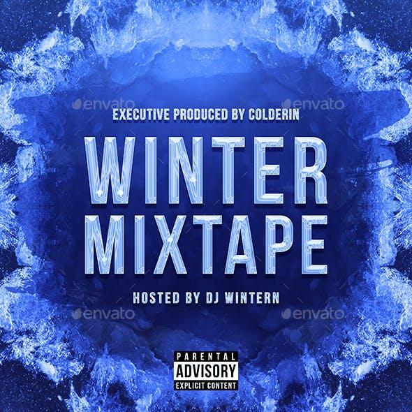 Winter Mixtape Remixes - Music Album Cover Artwork Template
