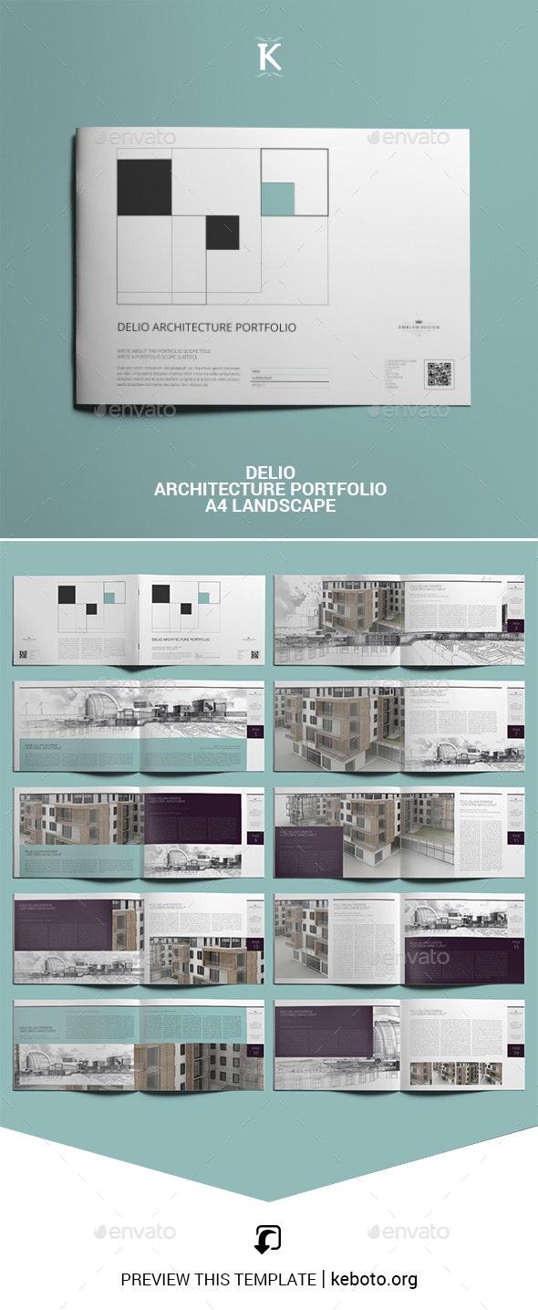 Delio Architecture Portfolio A4 Landscape - Portfolio Brochures