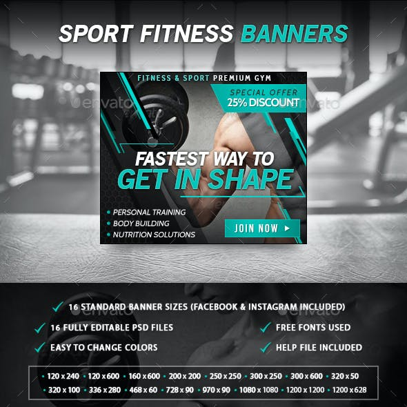 Sport Fitness Banners