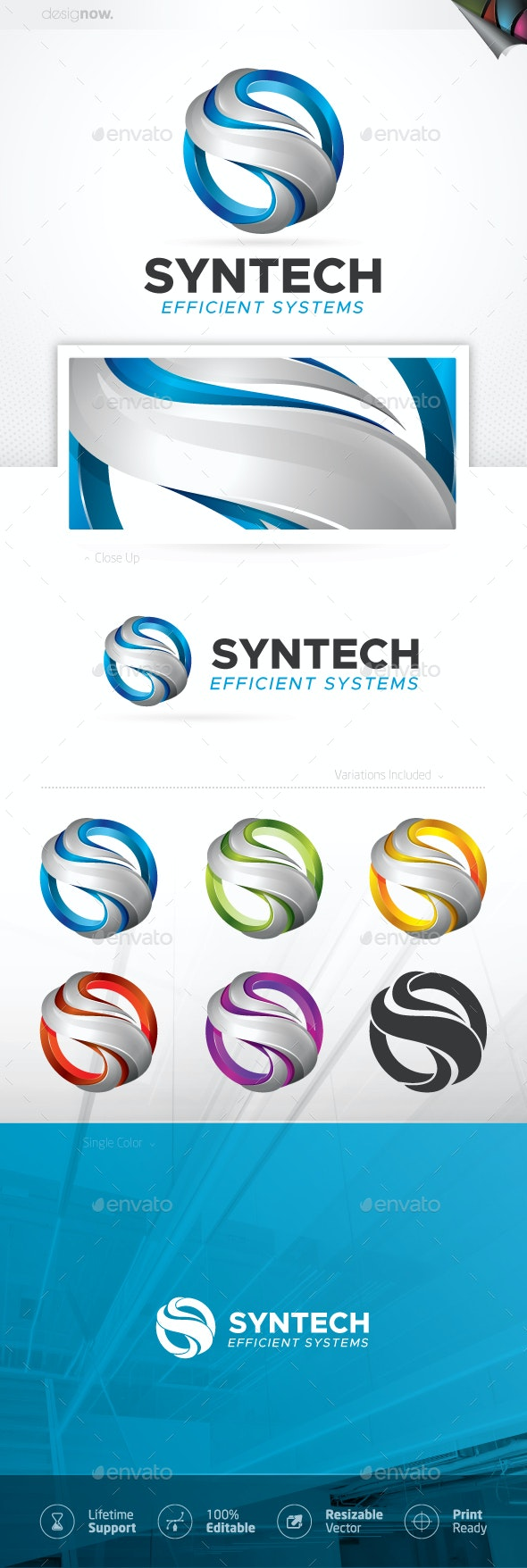 Circle Tech Logo - Symbols Logo Templates