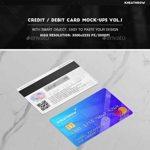 Credit / Debit Card Mock-Ups Vol.1