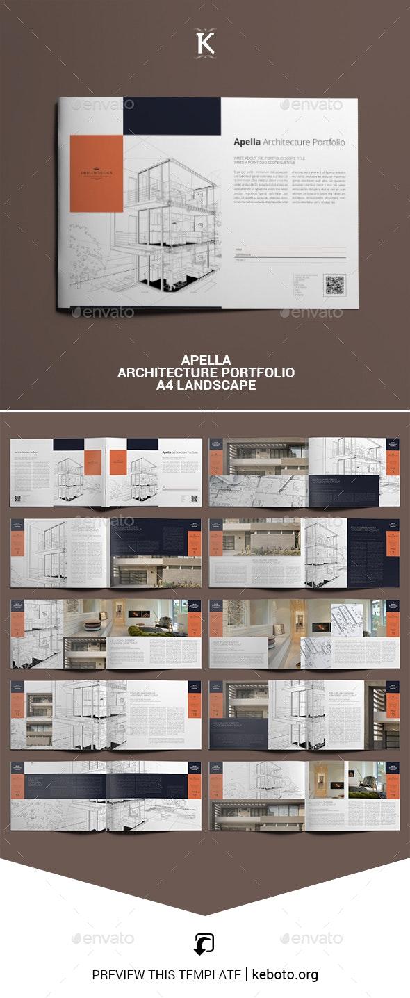Apella Architecture Portfolio A4 Landscape - Portfolio Brochures