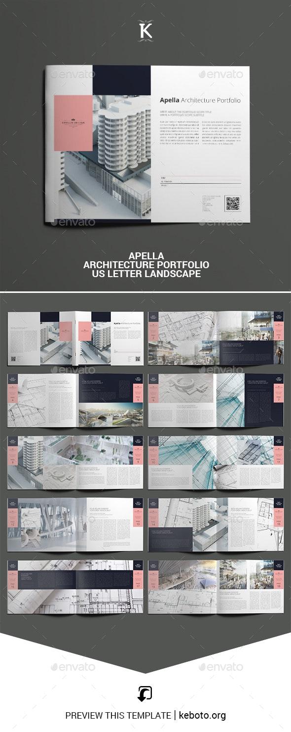 Apella Architecture Portfolio US Letter Landscape - Portfolio Brochures