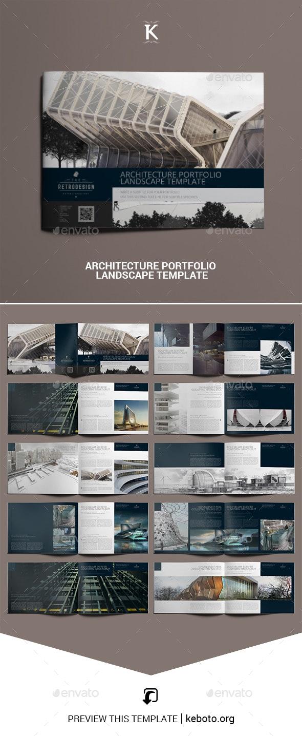 Architecture Portfolio Landscape Template By Keboto Graphicriver