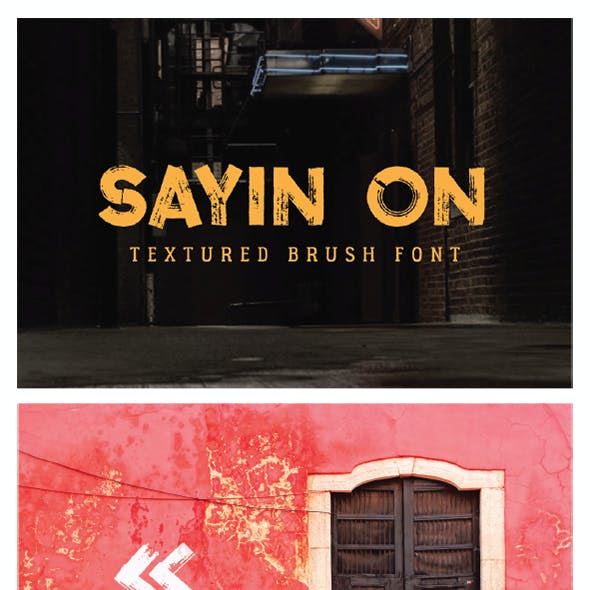 Sayin On - Textured Font