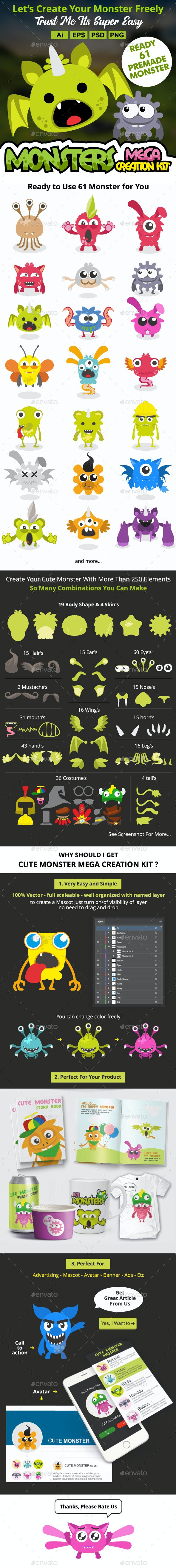 Character Creation Kit - Monsters Characters