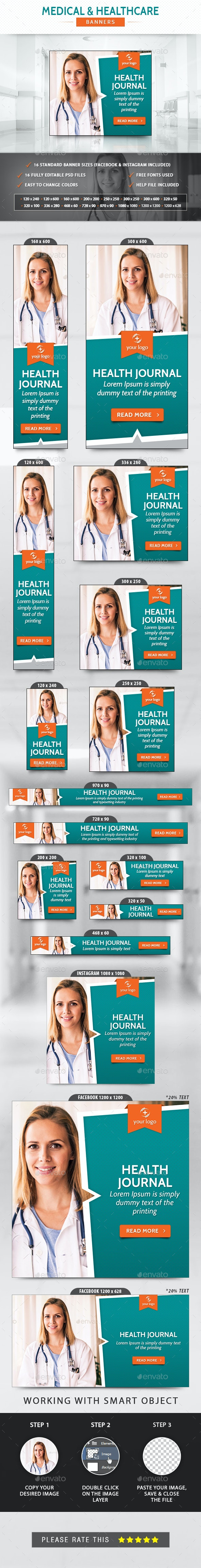 Medical & Healthcare Banners - Banners & Ads Web Elements