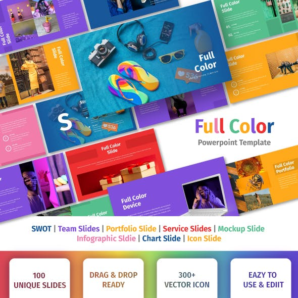 Full Color - Multipurpose Powerpoin Template