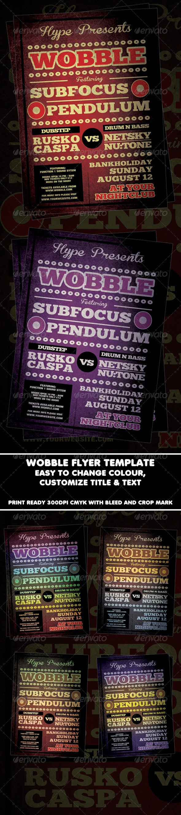 Wobble Flyer Or Poster template - Flyers Print Templates