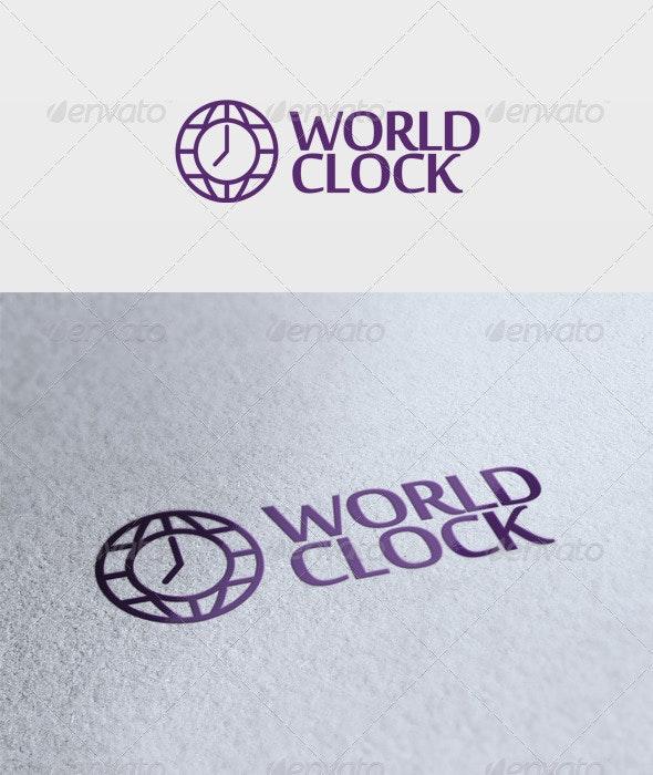 World Clock Logo - Symbols Logo Templates