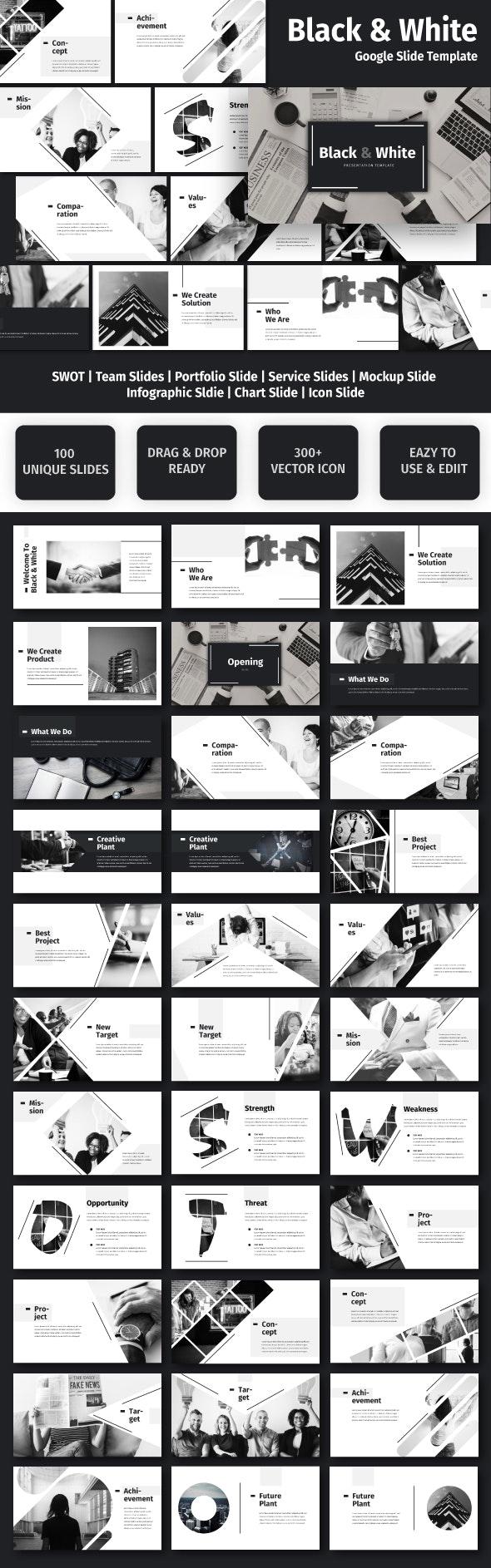 Black & White - Business Google Slide Template - Google Slides Presentation Templates
