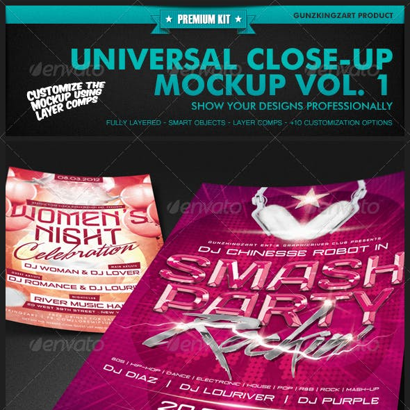 Universal Closeup Mockup Vol. 1 - Premium Kit