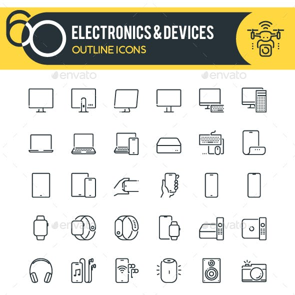 Devices Outline Icons