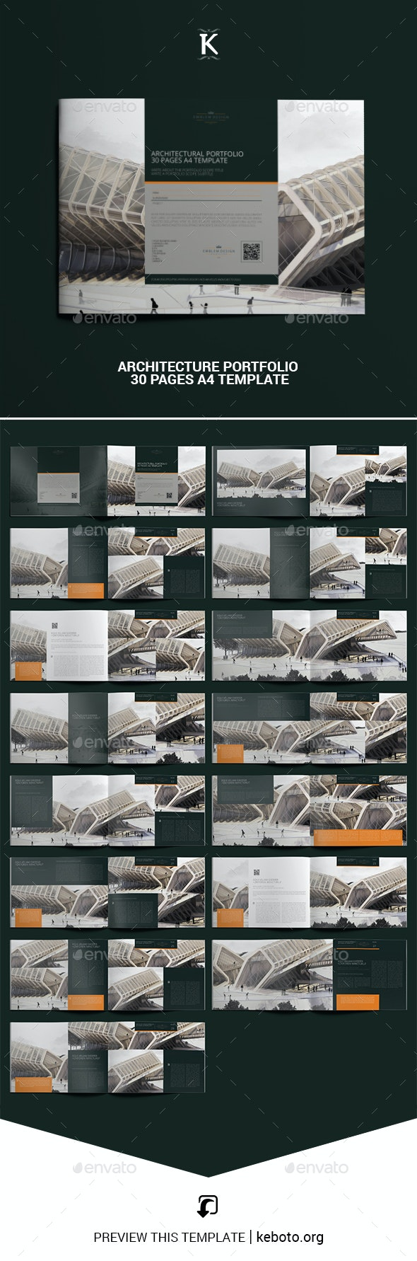 Architecture Portfolio 30 Pages A4 Template - Portfolio Brochures