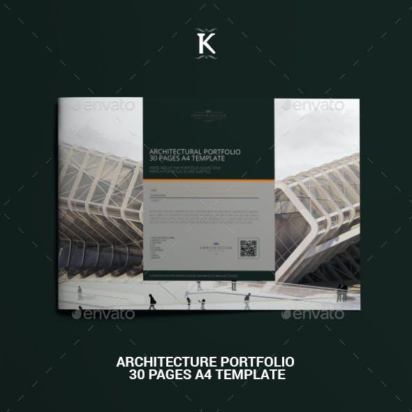 Architecture Portfolio 30 Pages A4 Template