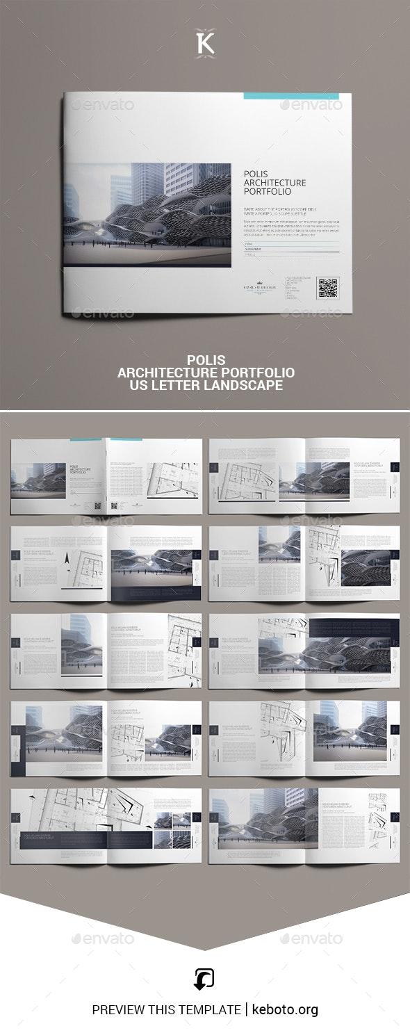 Polis Architecture Portfolio US Letter Landscape - Portfolio Brochures