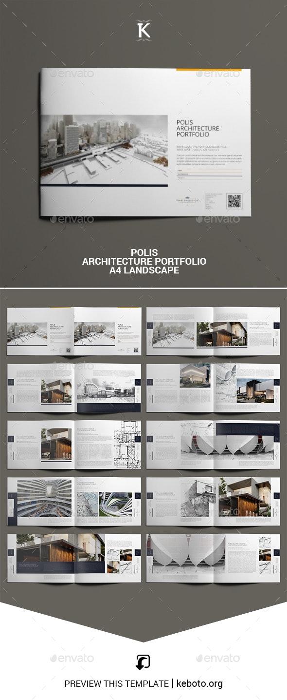 Polis Architecture Portfolio A4 Landscape - Portfolio Brochures