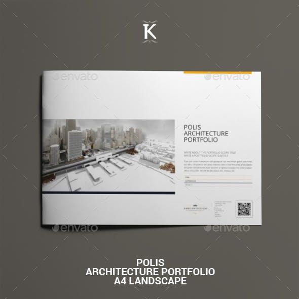 Polis Architecture Portfolio A4 Landscape