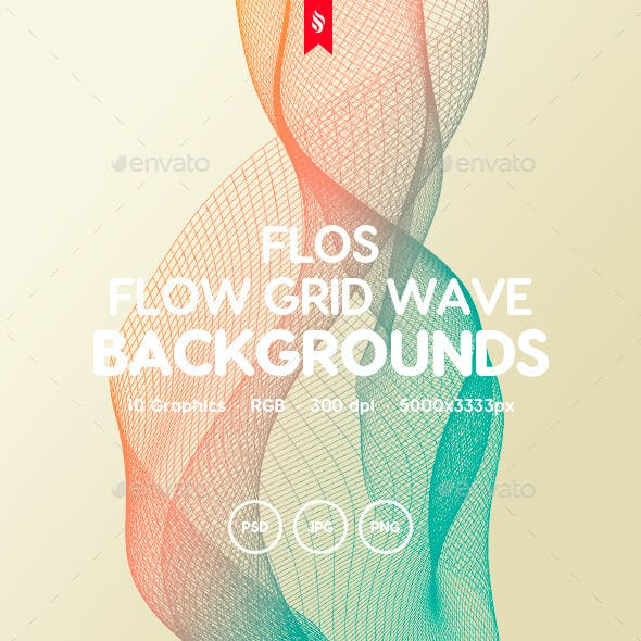 Flos - Flowing Grid Wave Background Set
