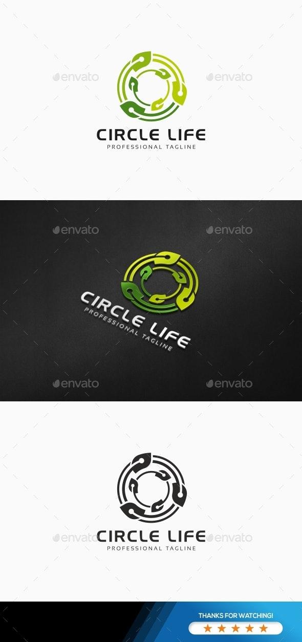 Circle Life Logo - Nature Logo Templates