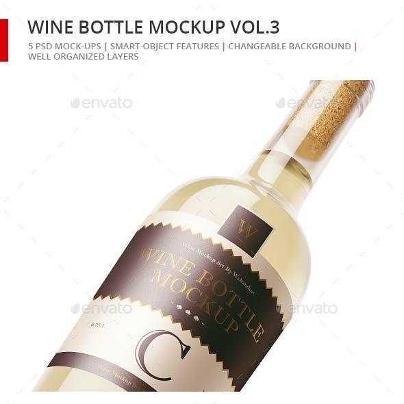 Wine Bottle Mock-up 3