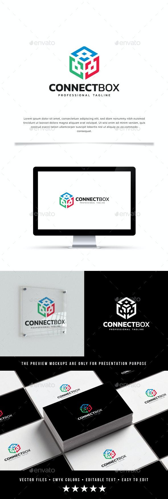 Connect Box Logo - Abstract Logo Templates