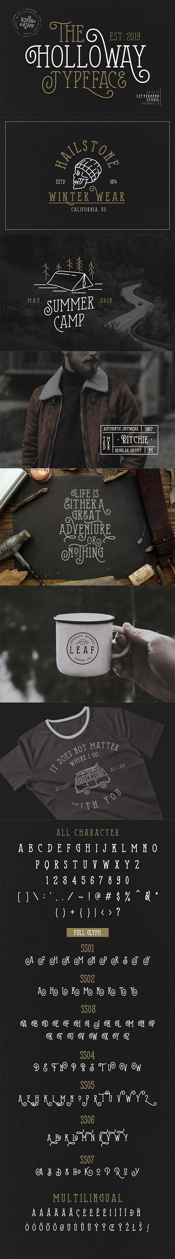 The Holloway Typeface - Serif Fonts