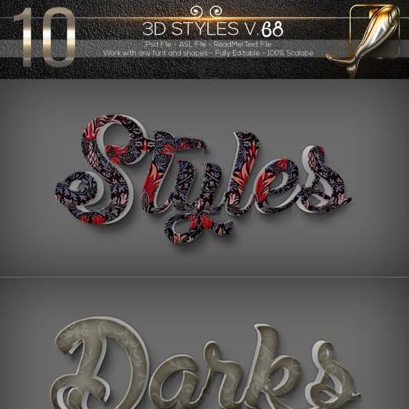 10 3D Text Styles D_68