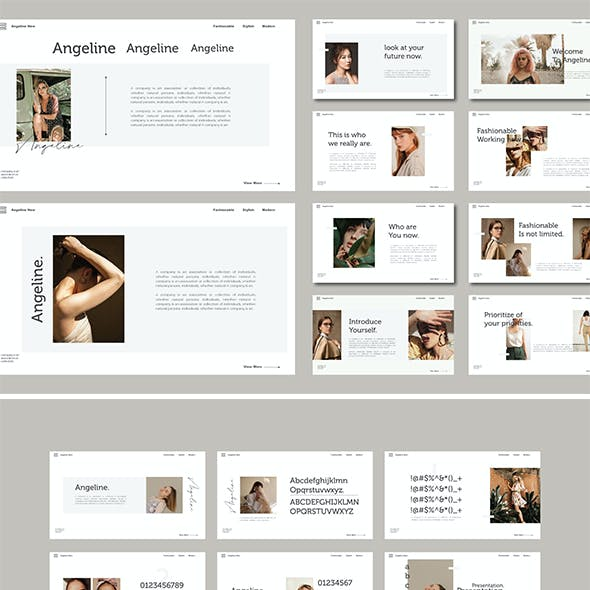 Angeline - Fashion Powerpoint Template