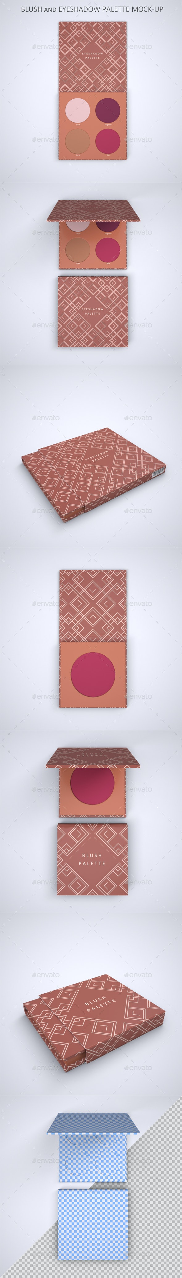 Blush and Eyeshadow Palette Mock-up - Packaging Product Mock-Ups