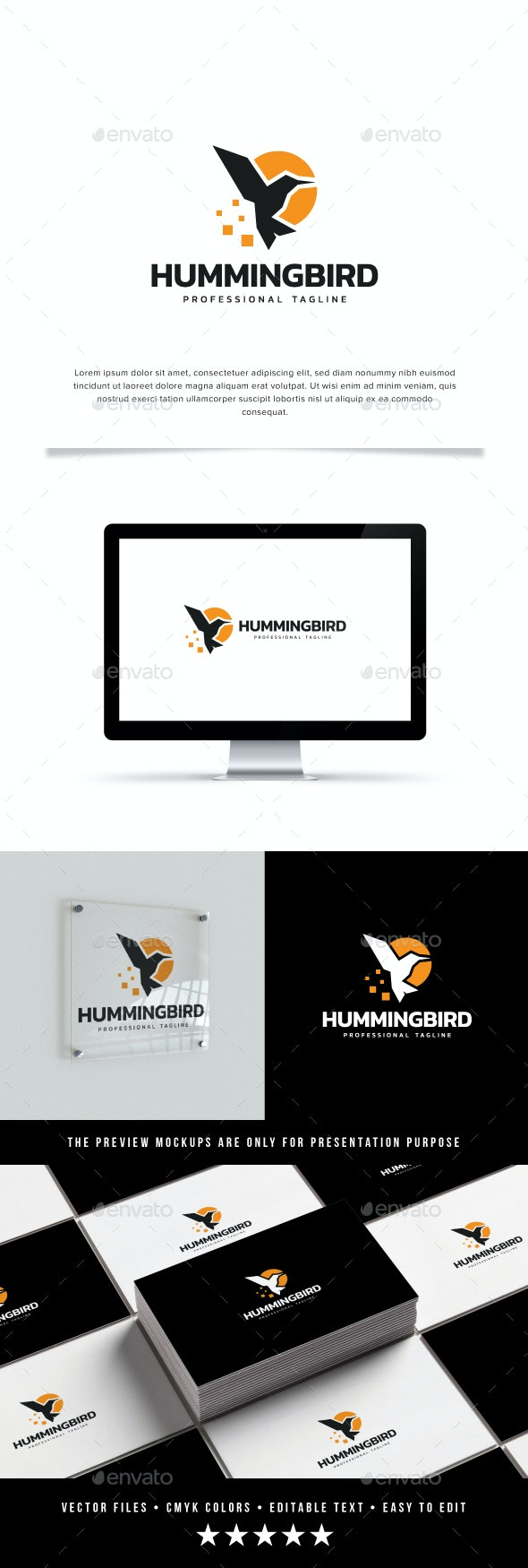 Hummingbird Logo - Animals Logo Templates