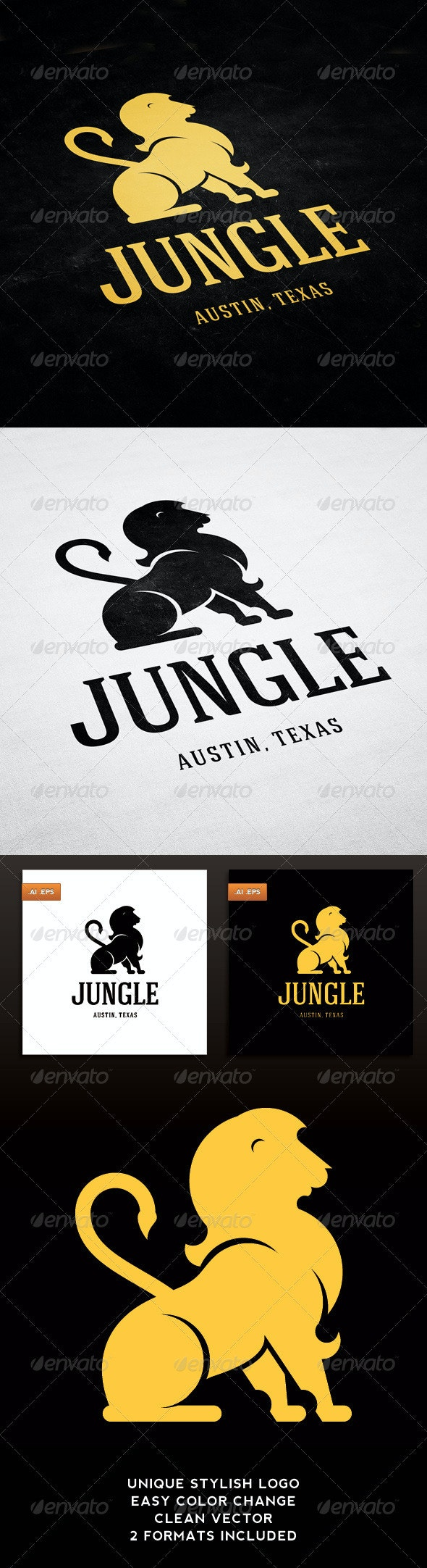 Jungle - Animals Logo Templates