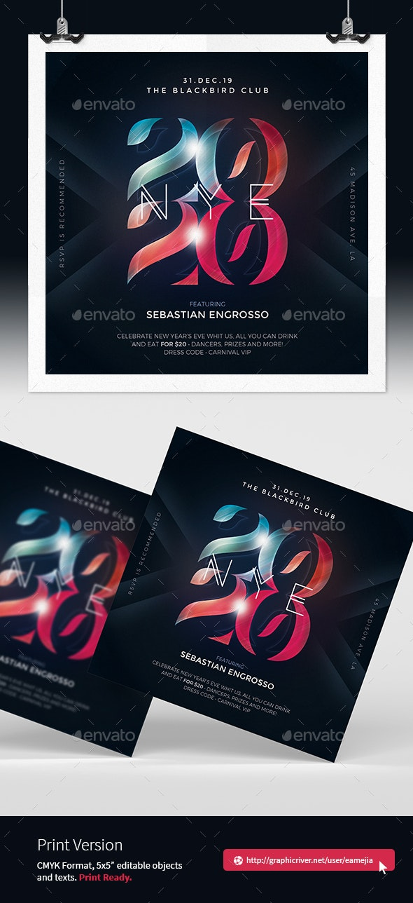 NYE Happy New Year Flyer Template