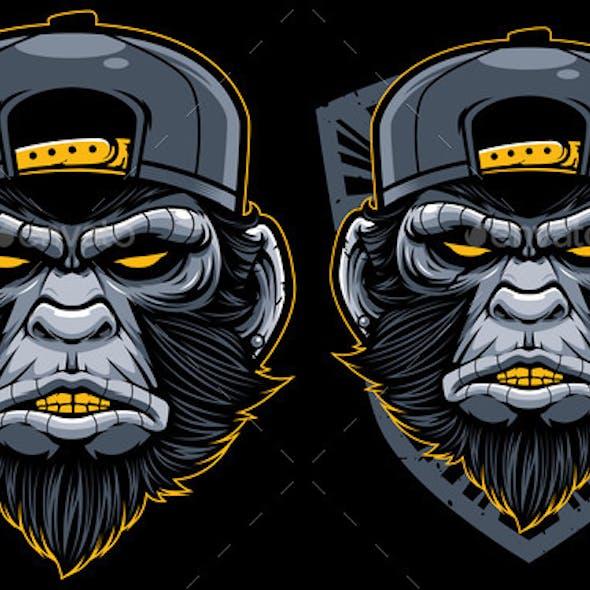 Cool Monkey Mascot