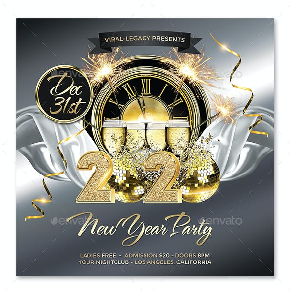 New Year Party Poster / Flyer V04