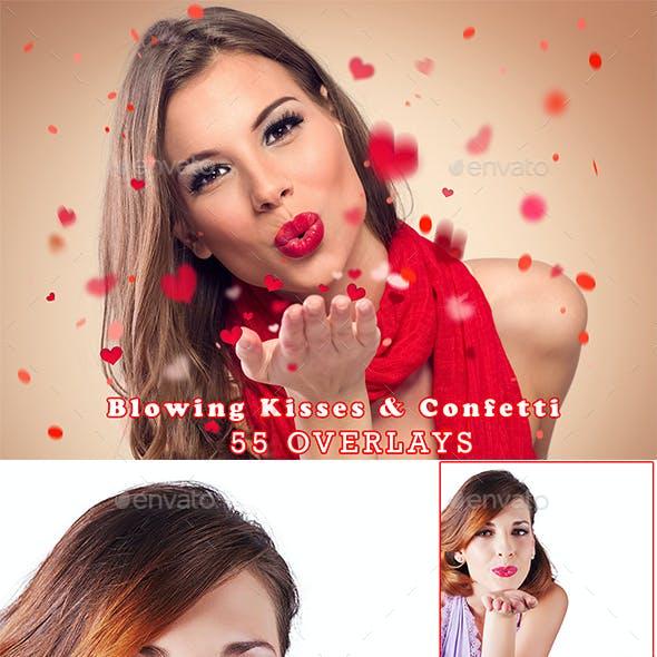 55 Blowing Kisses & Confetti
