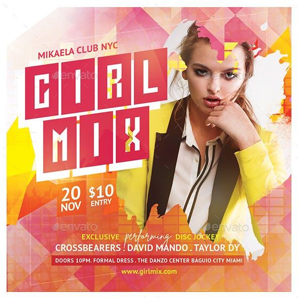 Girl Mix Flyer