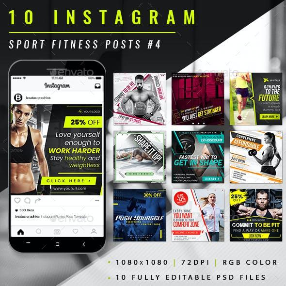 Sport Fitness Instagram Post #4