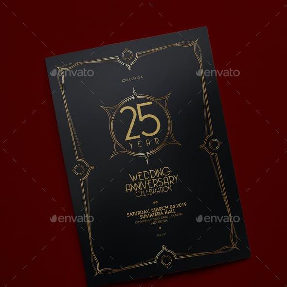 Elegant Anniversary Invitation v2
