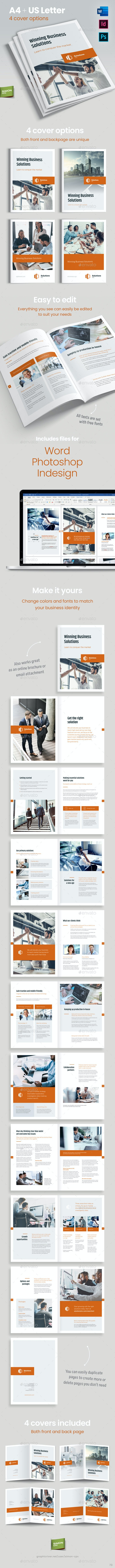 Solutions Inc. – Brochure Template for Indesign, Photoshop and Word - Brochures Print Templates