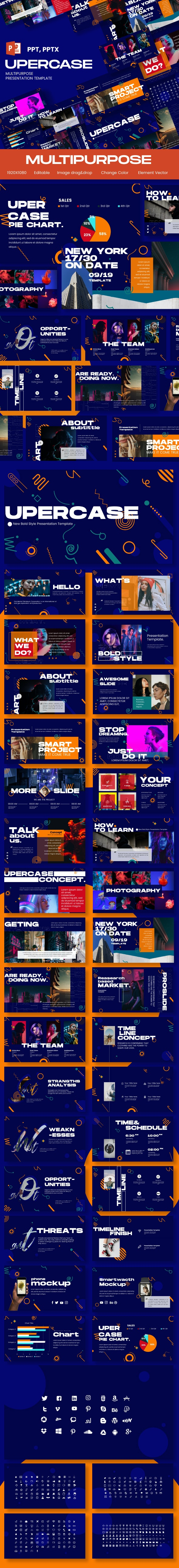 Upercase Multipurpose Presentation Template - Business PowerPoint Templates